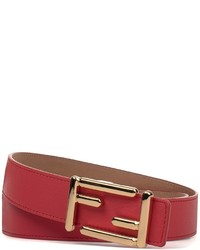 Fendi Poppy Red Leather Belt