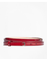 Brooks Brothers Skinny Patent Leather B Buckle Belt