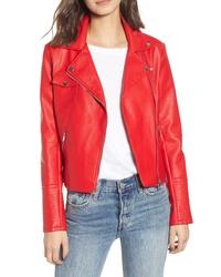 12cc03b5d67e Red Leather Biker Jackets for Women | Women's Fashion | Lookastic.com