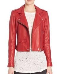Ashville leather moto jacket medium 531240