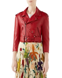 Gucci Chateau Marmont Embellished Leather Biker Jacket