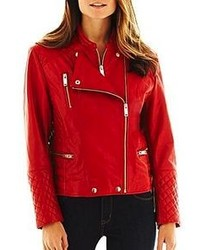 jcpenney Excelled Leather Motorcycle Jacket