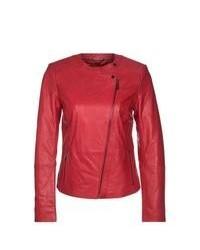 KIOMI Leather Jacket Red