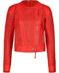 Roberto Cavalli Laser Cut Leather Jacket