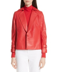 St. John Collection Luxe Nappa Leather Jacket