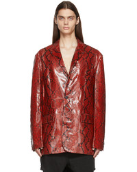 Vetements Red Python Leather Jacket