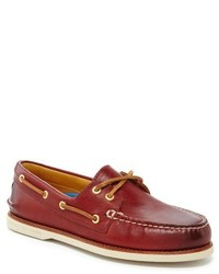 Top sider gold ao 2 eye boat shoes medium 321784