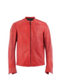 Ajmone Collarless Biker Jacket