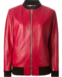 Dolce gabbana leather bomber jacket medium 136245