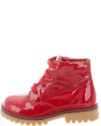Gucci Girls Patent Leather Ankle Boots