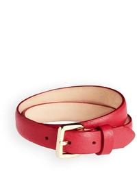 Brooks Brothers Pebble Leather Wrap Bracelet