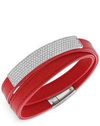 Swarovski Crystal Pav Soft Leather Wrap Bracelet