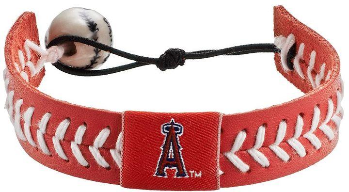 Wear Los Angeles Angels Of Anaheim Leather Baseball Bracelet