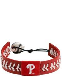 Gamewear Philadelphia Phillies Leather Baseball Bracelet