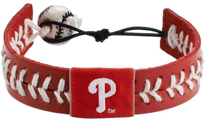 Wear Philadelphia Phillies Leather Baseball Bracelet