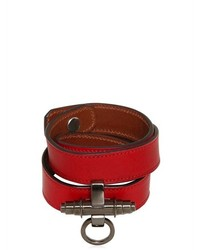 Givenchy 3 Rows Obsedia Leather Bracelet