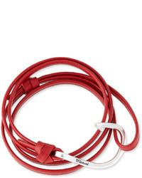 Miansai Hook Leather Bracelet Red