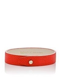Valextra Leather Bracelet Red