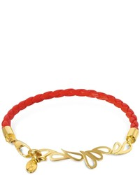 Sho London Mari Fiendship Leather And Silver Vermeil Bangle