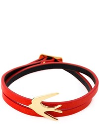 McQ by Alexander McQueen Mcq Alexander Mcqueen Swallow Double Wrap Bracelet