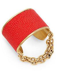 Paige Novick Natalie Stingray Leather Chain Cuff Bracelet
