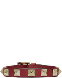 Valentino Red Garavani Leather Rockstud Bracelet