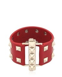 Valentino Studded Leather Cuff Bracelet