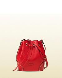 Gucci Bright Diamante Gg Leather Bucket Bag
