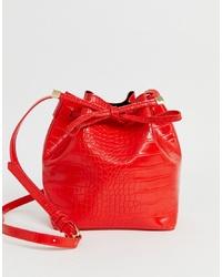 Pieces Faux Croc Skin Duffle Bag
