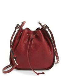 Garavani rockstud leather bucket bag medium 5208782