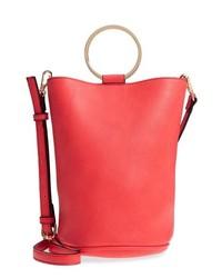 MALI AND LILI Mali Lili Ilia Vegan Leather Ring Handle Bucket Bag