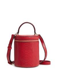JULES KAE Marion Snake Embossed Bucket Bag