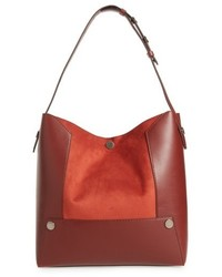 Stella McCartney Small Faux Leather Bucket Bag Red