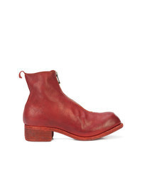 Red Leather Chelsea Boots
