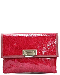 Arisch Red Leather Clutch