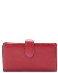 Buxton Hudson Pik Me Up Leather Checkbook Clutch