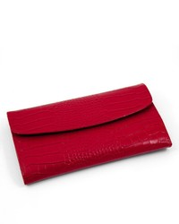 Bey-Berk Crocodile Leather Jewelry Clutch