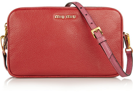 ... Red Leather Clutches Miu Miu Madras Two Tone Leather Shoulder Bag ... db6ee1b65df85