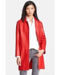 Charlotte gainsbourg for three quarter leather coat medium 113667
