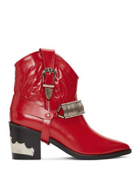 Toga Pulla Red Western Detail Boots
