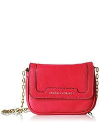 A X Armani Exchange Pebbled Faux Leather Crossbody