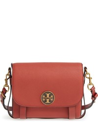 Tory Burch Alastair Pebbled Leather Shouldercrossbody Bag Red
