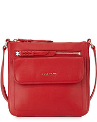 Cole Haan Amherst Leather Crossbody Bag Tango Red