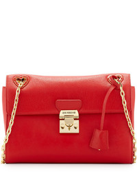 Love Moschino Angelo Leather Shoulder Bag Red