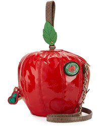 Betsey Johnson Apple Shaped Crossbody Bag Red