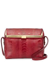 VBH Audrey Ostrichvitello Box Crossbody Cranberry