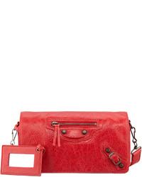 Balenciaga Classic Tool Kit Crossbody Bag Rouge Cardinal