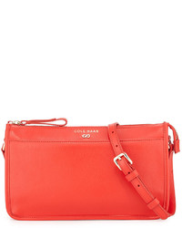 Cole Haan Beckett Colorblock Leather Crossbody Bag Fiery Red