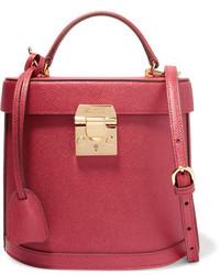 MARK CROSS Benchley Textured Leather Shoulder Bag Crimson