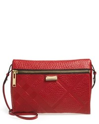 Burberry Medium Balmoral Textured Leather Convertible Crossbody Bag
